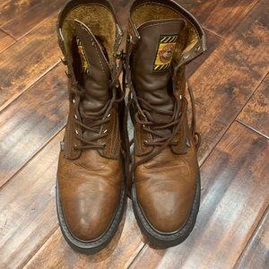 Justin Work Boots Steel Toe Mens Sz. 10.5